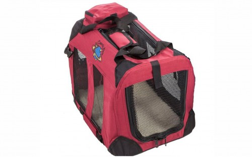 Cosmic Pets Collapsible Pet Carrier - Medium (Maroon)