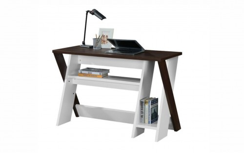 LINX Indiana Work Desk - Kingston Walnut and White